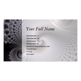 Spirales sans fin - art de fractale carte de visite standard