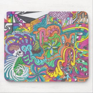 Spiritueux de couleur courus d'une manière tapis de souris