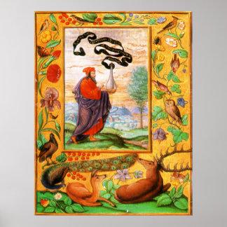 Splendeur Solis : Philosophe avec le flacon Posters