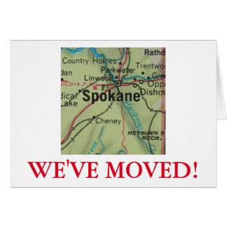 Spokane nous avons déplacé le faire-part d'adresse carte de vœux