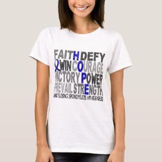 Spondylarthrite ankylosante de collage de mot t-shirt