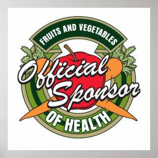 Sponsor de légumes de santé posters