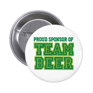 Sponsor fier de bouton drôle de bière d'équipe badge