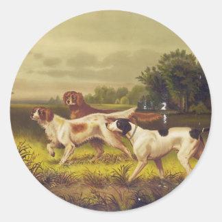 Sport de chiens de chasse en juillet par Hoover Autocollant