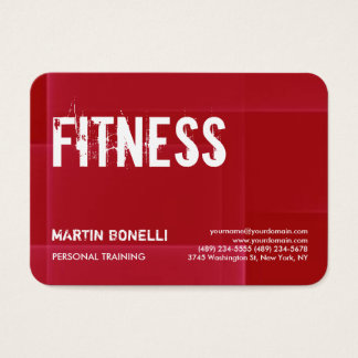 Sport personnel dynamique rouge créatif cartes de visite