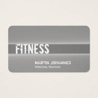 Sport personnel gris créatif d'entraîneur cartes de visite
