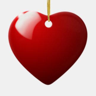 Sport rouge de Tableau de boule de billard Ornement Cœur En Céramique