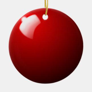 Sport rouge de Tableau de boule de billard Ornement Rond En Céramique