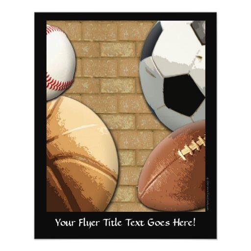 Sports Al-Étoile, basket-ball/football/football Prospectus Personnalisés