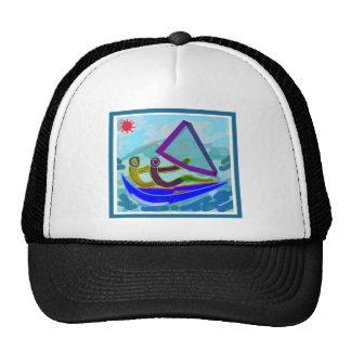 Sports aquatiques de bateau à voile casquettes