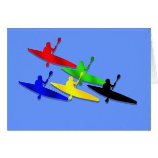 Sports aquatiques de kyak de canoë de Kyaking de Carte De Vœux