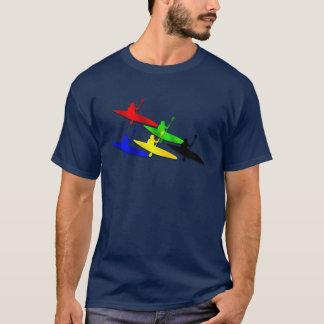 Sports aquatiques de kyak de canoë de Kyaking de T-shirt