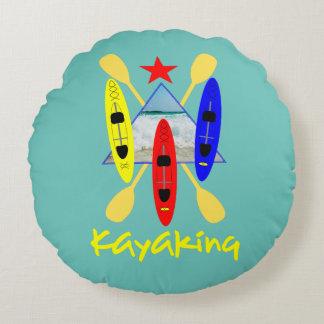 Sports aquatiques Kayaking - graphique orienté Coussins Ronds
