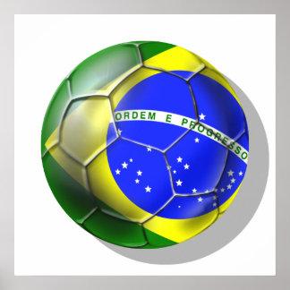 Sports brésiliens de drapeau du football de samba  posters