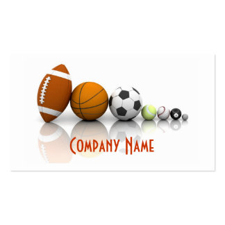 Sports carte de visite de boules