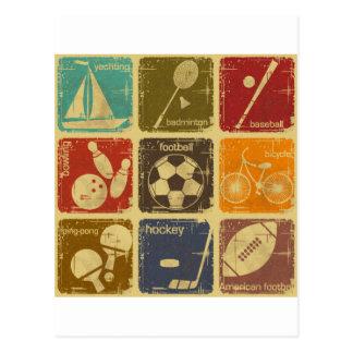 Sports Carte Postale