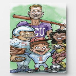 Sports de la jeunesse plaque photo