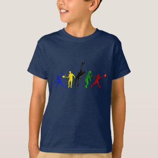 Sports d'entraîneurs de tennis de boule de joueurs t-shirt