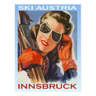 Sports d'hiver vintages, ski Autriche, Innsbruck Cartes Postales