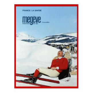 Sports d'hiver vintages, ski France, la Savoie, Me Carte Postale