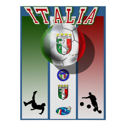 Sports du football de coupe du monde de calcio d'i posters