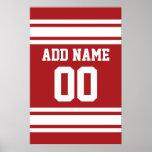 Sports Jersey avec votre nom et nombre Posters