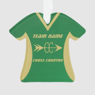 Sports Jersey de vert et d'or de pays croisé