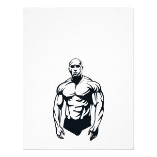 sports musculaires d'homme de body-builder_vector_ prospectus 21,6 cm x 24,94 cm