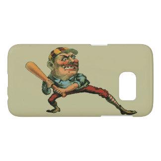 Sports vintages, joueur de baseball fâché coque samsung galaxy s7