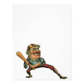 Sports vintages, joueur de baseball fâché prospectus 21,6 cm x 24,94 cm