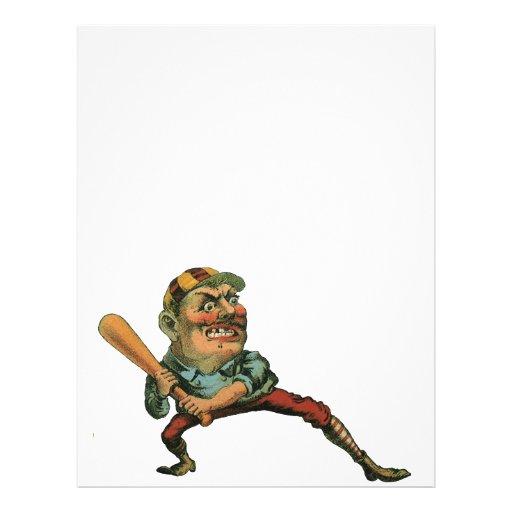 Sports vintages, joueur de baseball fâché tract customisé