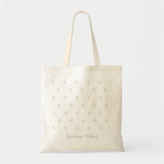 Spring Addict Tote bag with lovely tiny flowers