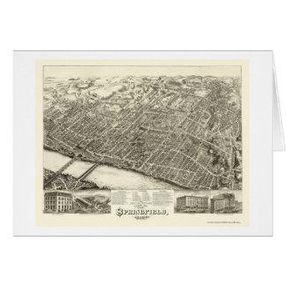 Springfield, carte panoramique de mA - 1875