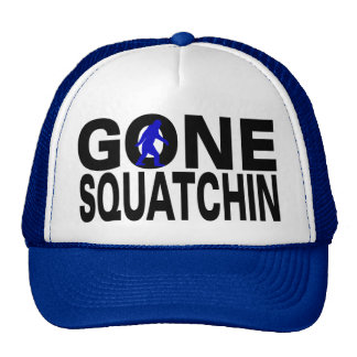 Squatchin allé (logo bleu) casquettes de camionneur