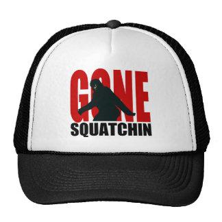 Squatchin allé (rouge et noir) casquette trucker