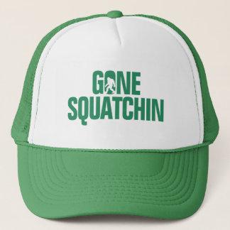 Squatchin allé - silhouette de vert/blanche casquette