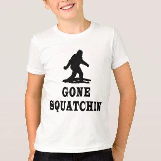 Squatching allé, trouvant Bigfoot, Squatch T-shirt