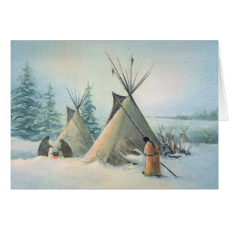 SQUAW de CAMP de TIPI par SHARON SHARPE Cartes