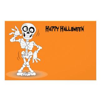 Squelette Animated de Halloween Prospectus 14 Cm X 21,6 Cm