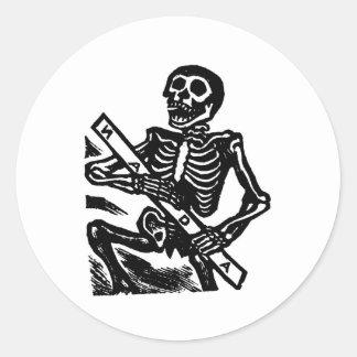 Squelette, circa le Mexique 1951 Adhésif Rond