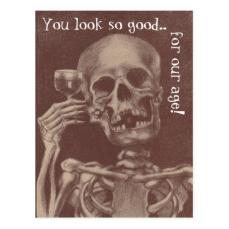 Squelette d'amusement de carte postale que vous