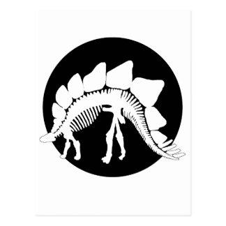 squelette de stegosaurus carte postale