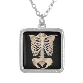 Squelette effrayant de cage de zombi de partie de collier