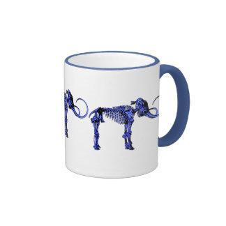 Squelette gigantesque bleu tasse à café