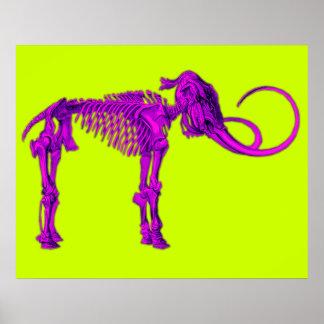 Squelette gigantesque pourpre affiche