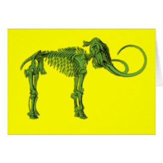 Squelette gigantesque vert cartes de vœux