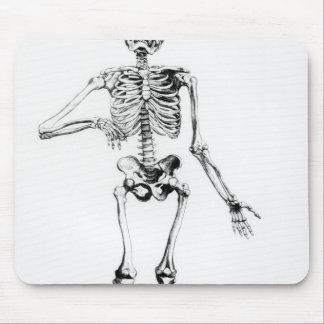 Squelette humain tapis de souris