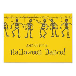 Squelettes de danse d'invitations de partie de carton d'invitation  12,7 cm x 17,78 cm
