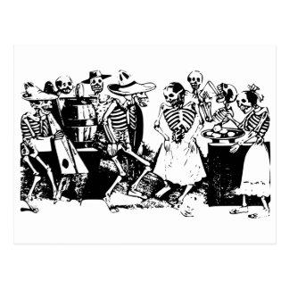 Squelettes de Mexicain de Mamie-Fandango Carte Postale