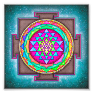 Sri Yantra - Artwork de VII VII Impression Photo